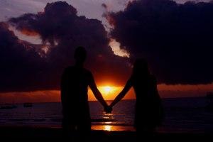 """Coucher du soleil par Anna Langova """"Tu respecteras cet amour et cette alliance""""."""
