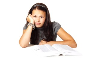 Bored femme étudie par Petr Kratochvil Tu n'as pu veiller une heure avec moi ? demande Jésus