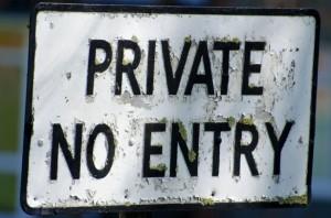 Privé No Entry par George Hodan