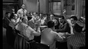 """11 """"Coupable"""", et un seul """"non coupable"""" ! Scène de """"Douze hommes en colère"""" de Sidney Lumet (1957)"""