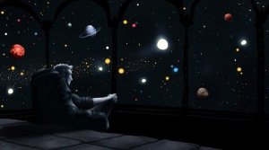 """""""Tout seul au fond de l'espace"""" : ou comment parler(chanter sur) de ce qui nous dépasse ?"""
