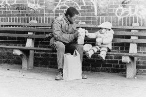 """Sidewalk stories : """"the artist"""" et la petite fille"""