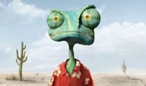 """Un caméléon, dans le décor... (""""Rango"""", film de Gore Verbinski avec Johnny Depp, sorti en 2011)"""