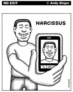 """""""Narcisse"""" moderne (Par Andy Singer)"""
