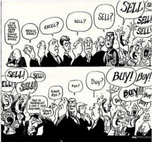 """Cartoon de Kevin KAL Kallaugher. Publié, semble-t-il, pour la première fois, dans """"The Baltimore Sun"""" in 1989. Et repris par The Economist, en Novembre 1997, pour sa couverture."""