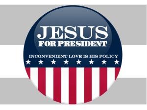 """Jésus, pour """"président"""" ? (Source : """"Mockingbird"""")"""