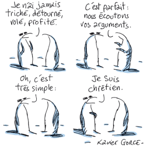 """Justificatif"", par Xavier Gorce (Blog LeMonde)"